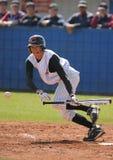 Jeu de baseball élevé d'écoliers Image stock