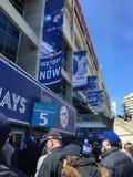 Jeu de baseball de Blue Jays Image libre de droits