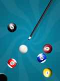 Jeu de billards Photographie stock