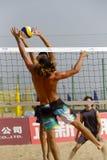 jeu de boule masculin de pratique en matière de joueurs des Etats-Unis Image libre de droits