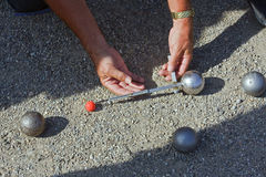 Jeu de Boules or Petanque Royalty Free Stock Photos