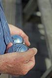 Jeu de boules spelare Frankrike Royaltyfri Fotografi
