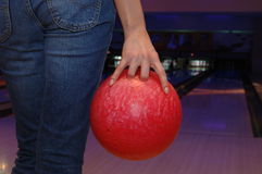 Jeu de bowling Images libres de droits
