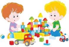 jeu de briques de garçons illustration stock