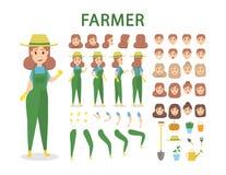 Jeu de caractères d'agriculteur illustration stock