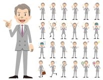 Jeu de caractères d'homme d'affaires Diverses poses et émotions illustration de vecteur