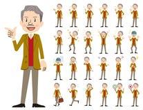 Jeu de caractères d'homme d'affaires Diverses poses et émotions illustration libre de droits