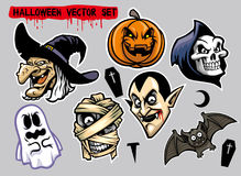 Jeu de caractères de Halloween illustration stock