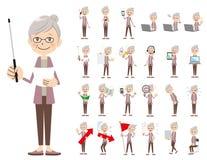 Jeu de caractères femelle Présentation dans la diverse action illustration de vecteur
