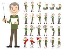 Jeu de caractères masculin Présentation dans la diverse action illustration libre de droits