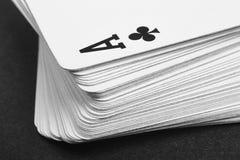 Jeu de carte avec l'as de trèfle le petit groupe Rebecca 36 Photographie stock libre de droits