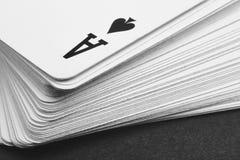 Jeu de carte avec le petit groupe d'as de pique Rebecca 36 Photo libre de droits