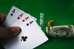 Jeu de carte de jeu dans le casino Image stock