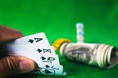 Jeu de carte de jeu dans le casino Photographie stock