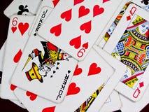 jeu de cartes Photos stock