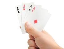 jeu de cartes 3d un Image libre de droits