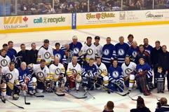 Jeu de classiques de Panthéon d'hockey Photos stock