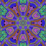 Jeu de couleurs Aspiration abstraite avec des visages et des fleurs illustration libre de droits