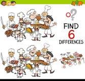 Jeu de différence avec des cuisiniers Photo libre de droits