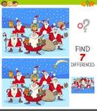 Jeu de différences avec des caractères de Santa Claus Christmas illustration libre de droits