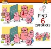 Jeu de différences pour des enfants Photo stock