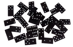Jeu de domino Images stock