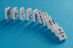 Jeu de domino Photos stock