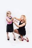 Fille et maman Photographie stock