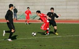 Jeu de football Photos libres de droits