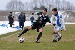Jeu de football de Kaposvar - d'Osijek Image libre de droits