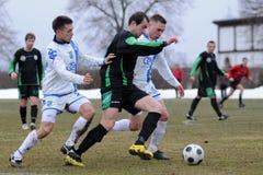 Jeu de football de Kaposvar - d'Osijek Photos stock