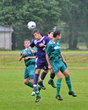 Jeu de football de Kaposvar - de Bekescsaba U19 Photos libres de droits