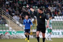 Jeu de football de Kaposvar - de Zalaegerszeg Photos libres de droits
