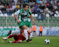 Jeu de football de Kaposvar-Debrecen Photo stock