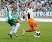 Jeu de football de Kaposvar-Ferencvaros Photo stock