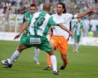 Jeu de football de Kaposvar-Ferencvaros Images stock