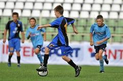 Jeu de football de la jeunesse de Dakovo - de Tuzla Photographie stock libre de droits