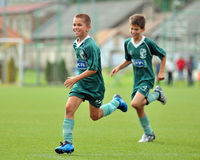 Jeu de football U13 Photo stock