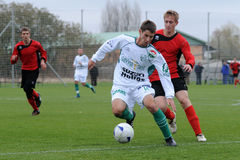 Jeu de football U19 Image stock