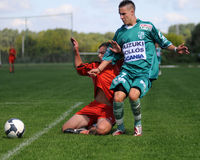 Jeu de football U19 image libre de droits