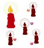 Jeu de forme de Noël : bougie Images stock