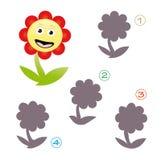 Jeu de forme - la fleur Photo libre de droits