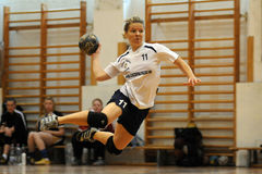 Jeu de handball de Kaposvar - de Bacsbokod Photographie stock