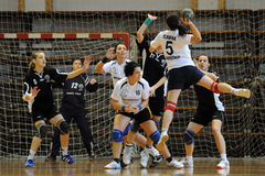 Jeu de handball de Kaposvar - de Csurgo Photo stock