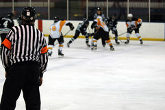 Jeu de hockey sur glace Image libre de droits