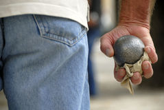 Jeu de jeu de boules Image libre de droits