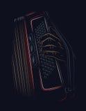 Jeu de l'accordéon images libres de droits