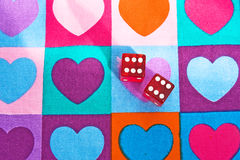 Jeu de l'amour : un jet de gain des matrices ! Photo stock