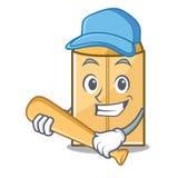 Jeu de l'enveloppe d'annonce de base-ball dans la forme de caractère illustration de vecteur