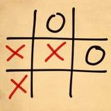 jeu de l'orteil XO de tac de tic d'illustration Photographie stock libre de droits